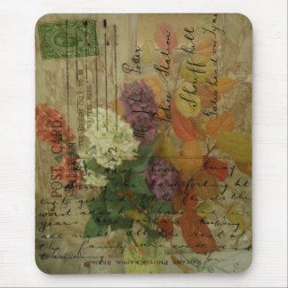 Postcard Flowers Mousepad