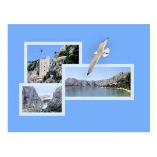postcard for Omis and Cetina, Croatia