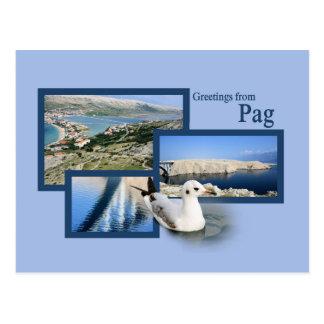 Postcard for Pag, Croatia