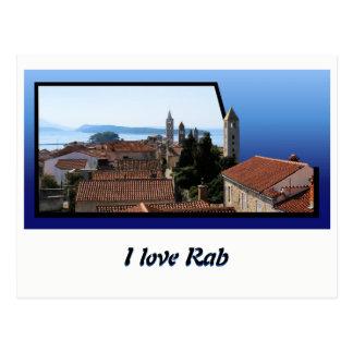 Postcard for Rab, Croatia