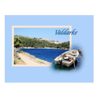 postcard for Valdarke, island Losinj, Croatia