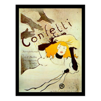 Postcard French vintage Confetti