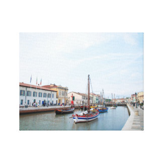Postcard from Cesenatico (Italy) Canvas Print