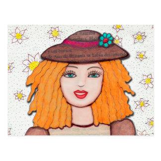 Postcard Gloria Doll Pretty and blond