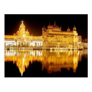 Postcard Golden delicious Temple India (night)