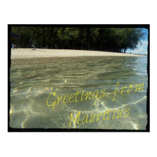 "Postcard ""Greetings from Mauritius"""