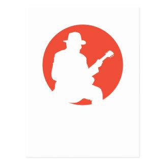 postcard guitarist silhouette
