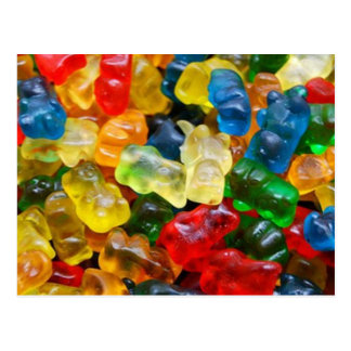 postcard, gummy bears postcard