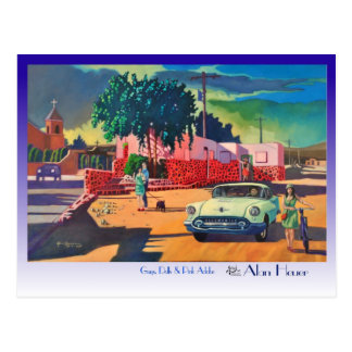 POSTCARD Guys, Dolls and Pink Adobe by Alan Heuer