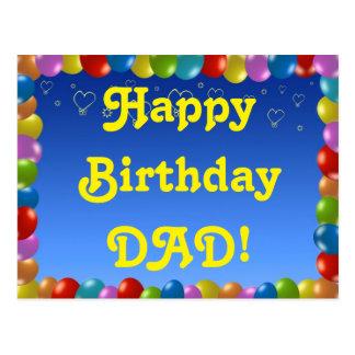 Postcard Happy Birthday Dad