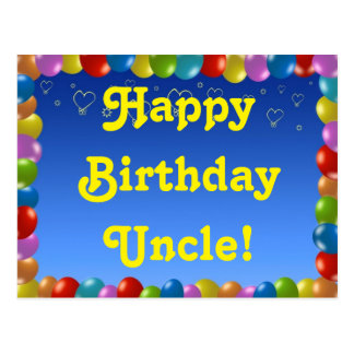 Postcard Happy Birthday Uncle