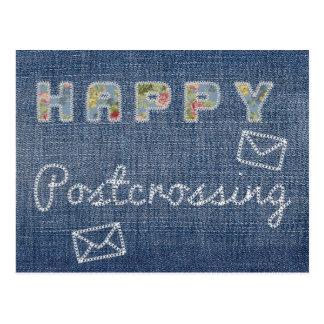 "Postcard ""Happy Postcrossing Jeans"""
