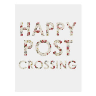 "Postcard ""Happy Postcrossing Roses"""
