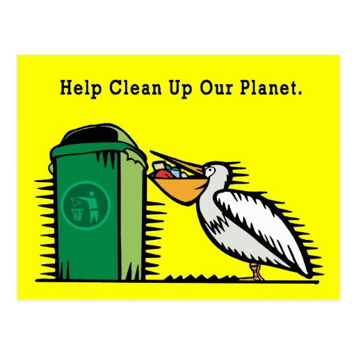 "Postcard: ""Help Clean Up Our Planet"""