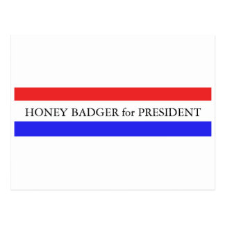 Postcard:  Honey Badger for President Postcard