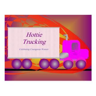 Postcard - Hottie Trucking