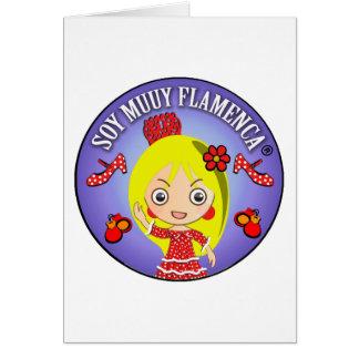 Postcard I am Very Flamenco Blonde