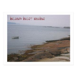 postcard: Island in Maine Postcard