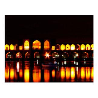 Postcard Khaju Bridge in Isfahan, Iran