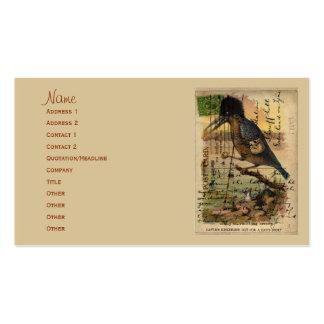 Postcard Kingfisher Business Card Template