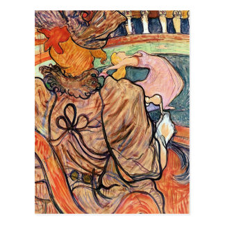 Postcard:   Lautrec - French Art - Nouveau Cirque Postcard