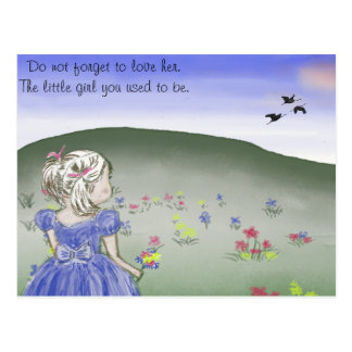Postcard, little girl postcard