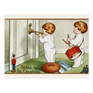 "Postcard: Little Twins ""Wake Up it's Christmas!"" Postcard"