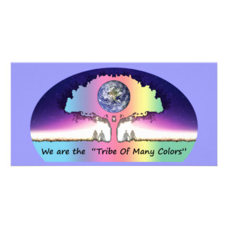 Postcard long Photocard Tribe Of Many Colors Photokartenvorlagen
