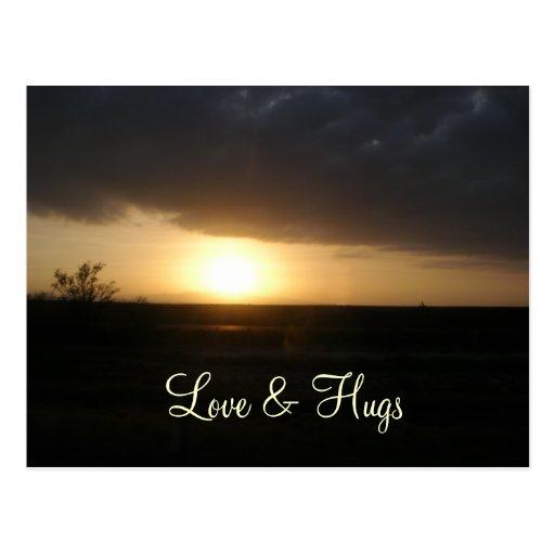 Postcard Love and hugs