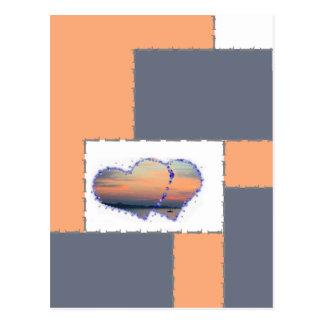 postcard: love are in the air sundown postcard