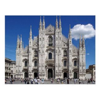 Postcard Milan Cathedral, Duomo Piazza, Italy