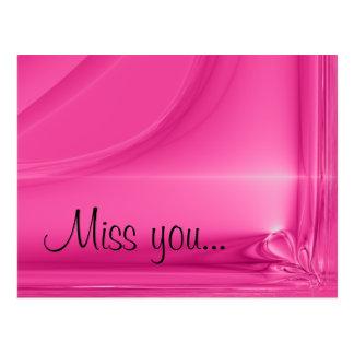 Postcard - Miss you...