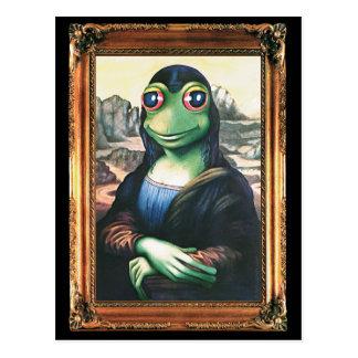 Postcard Mona Lisa Frog