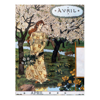 Postcard: Month of Aril - Avril Postcard