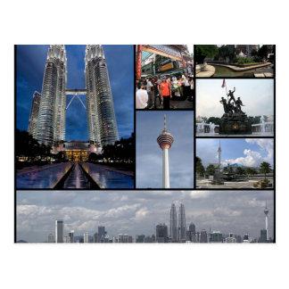 Postcard Monuments Off Kuala Lumpur, Malaysia