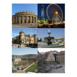 Postcard Monuments Off Stuttgart, Germany