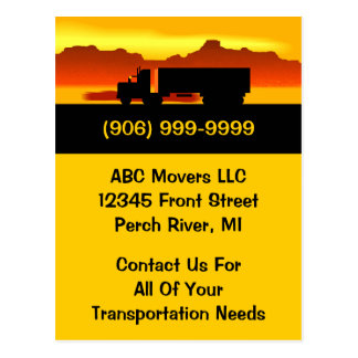 Postcard Moving Truck Movers Transport Business PC