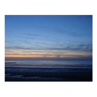 Postcard North Sea, sunset