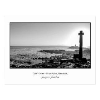 Postcard of Dias' Cross near Ludritz.