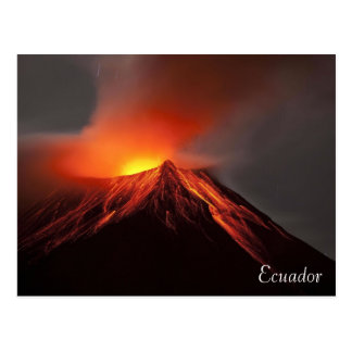 postcard of Ecuador landscape volcano
