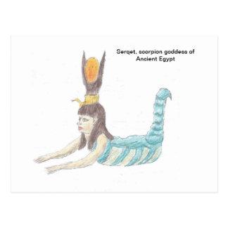 Postcard of Egyptian goddess Selket