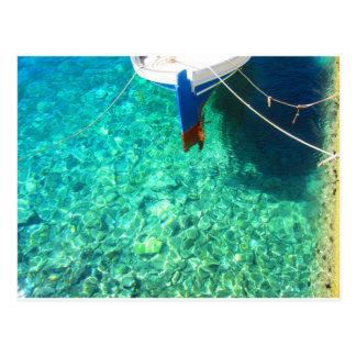 Postcard of Panormos on Tinos Island, Greece