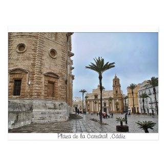 Postcard of Place of the Cathedral, Cadiz