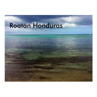 Postcard of Roatán Honduras Beach