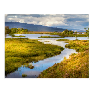 Postcard of Scottish Highlands landscape