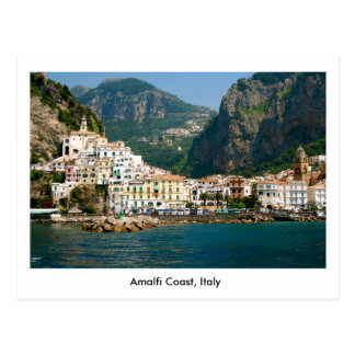 Postcard of The Amalfi Coast in Italy, UNESCO