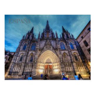 postcard of the Sacred Family in Barcelona, Spain