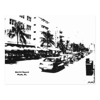 Postcard of the strip in south beach, miami