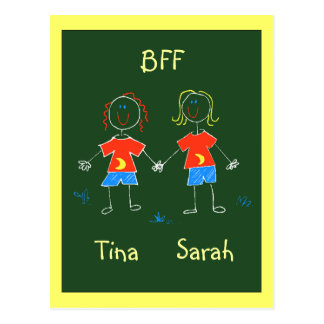 Postcard Personalised BFF Friendship Expression PC