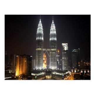 Postcard Petronas Towers, Kuala Lumpur, Malaysia